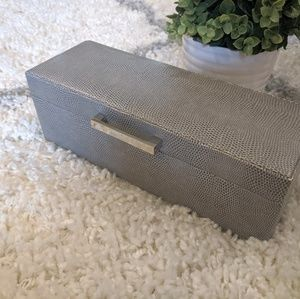 Jewelry - Gray Jewelry Box - Faux Snake Skin Look